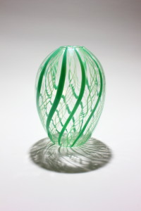 Green Cane Vase