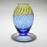 Blue and Yellow cane incalmo vase