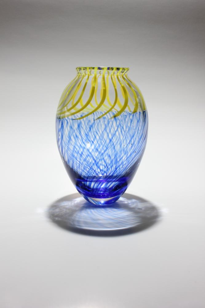 Blue and Yellow cane incalmo vase